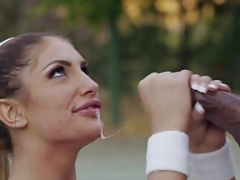 August Ames Has an intercourse Her Big Black Coach