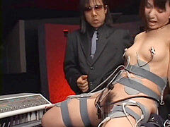 chinese schoolgirl restraint wand & electro torment
