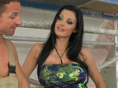 Aletta Ocean getting double fucked in a foursome gangbang