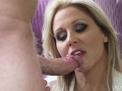 Julia Ann starts her weekend off with a bang...literally and cums hard