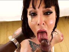 Milf Dollie Darko talking dirty & titfucking lubed bbc pov