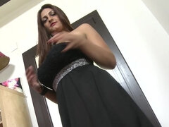 Spanish horny mom playing with herself