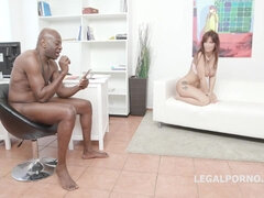 What A Slut - brutal interracial gangbang with double penetration and double anal