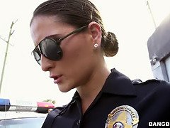 Female cop banged