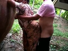 Busty Indian MILF gets fucked in the park during COVID