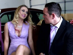 Handsome is fucking a hot blonde