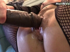 Mommy hotwiferio sucks on her sons-in-law shaft and gobbles his cum