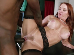 Red haired mom likes rock hard dick
