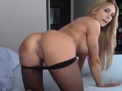 Taunt Super-Naughty Scorching Blondie Cougar In Pantyhose Taut Booty Adorable Undies