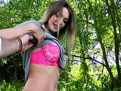 Huge bra buddies Czech broad railed in the woods