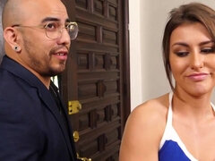 Blackmailed shoplifter stepsis - creampie
