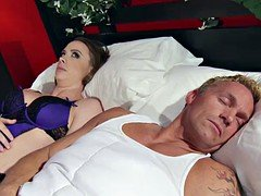 Married dame Chanel Preston gets titfucked and her cunt plowing by thief