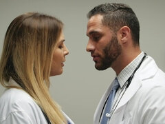 Dr. Williams fucks boyfriend in her 10 minute break