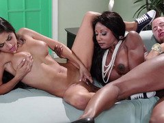 Black soccer mom and the babysitter fucking a big love pole