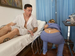 A.j. Applegate Is A Home Nurse That Gets Totally Into Fucking Her Patient!