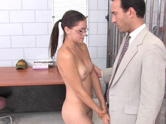 A sexy gal is getting fucked in her prison cell by her lawyer