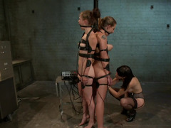 Imperious boss Bobbi Star loves punishing her naughty employees