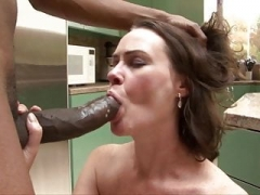 Bushy Veronica Snow is desperate for large black cock