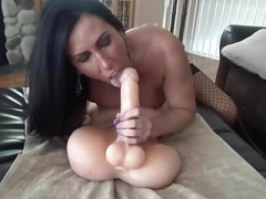 Eager mom Takes Big Sextoy and plus Makes love Ass