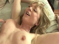 Sexy aunt Nina Hartley gives bj everything out of my young phallus!