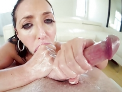 Angela White Point of view deepthroat