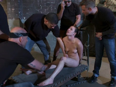 Sex-craving babe gets used by a couple of randy guys