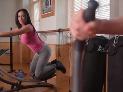 X-Rated Gym Routine - MILF Exercises her Pink & PC Muscles