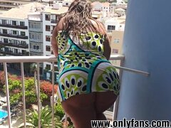 Hot POV fucking for big-assed chick in the hotel room