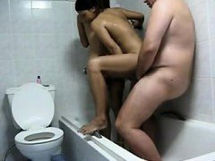 Dude with 2 indian hookers within the bath- homemade