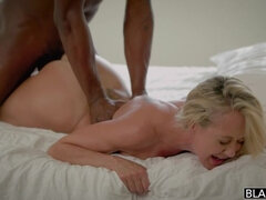 Hot Blonde Wife Takes a Huge Black Cock