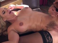 Ligatured milf slut getting her butt drilled