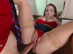 Seductive woman enjoyed fucking her handsome boss