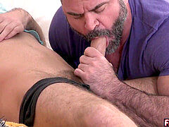 thick queer step-dad catches son masturbating