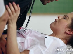 Trainee Nurse Cassie Fire Rides Her Teacher