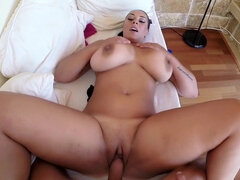 Busty woman got fucked in her home
