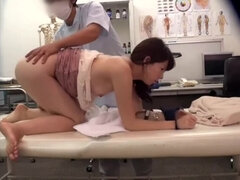 shes hot as she moans for that medical student