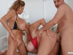 Cock sucking sex video featuring Keiran Lee, kayla kleevage and Minka