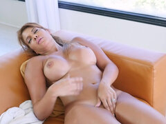Latina bombshell Marcedes Carrera plays with her moist pussy