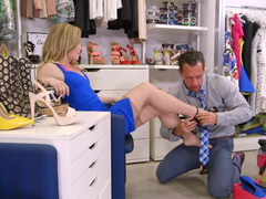 Trying shoes dame gets fucked by handsome sales assistant