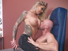 Johnny Sins came to tattoo artist busty Karma Rx