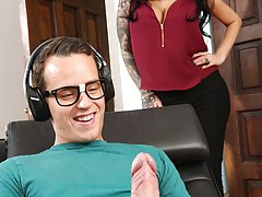 FILF - Stepmom Lily Lane catches son jerking on her images