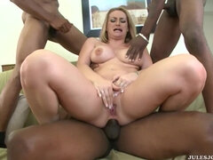 White Whores - Aline interracial gangbang