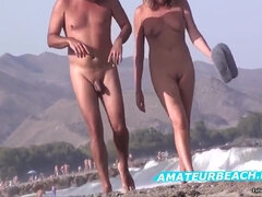 Very Hot Amateur Porn Voyeur Nudist On Public Beach Video