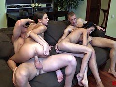 18 Videoz - Excellent double date with swinger sex