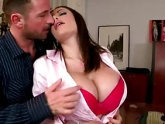 Brunette with love bubbles gets fucked hard