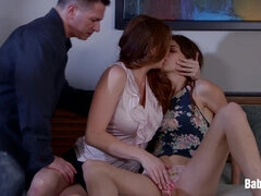 Allison Moore, Willow Hayes - Teach The Little Whore To Blowing