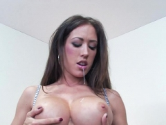 Capri loves to show of her deluxe jugs and honey pot