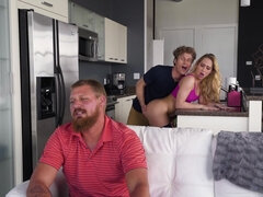 Carter Cruise seduces her bf's son into a sneaky fuck right behind his back