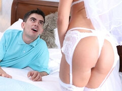 Playful MILF Sienna Day is fucking with two lucky young men