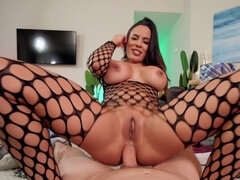 Cameraman admires Luna Star's sweet booty and fucks it hard